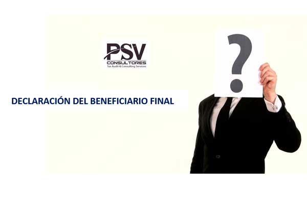 BENEFICIARIO FINAL – PRINCIPALES ASPECTOS TRIBUTARIOS